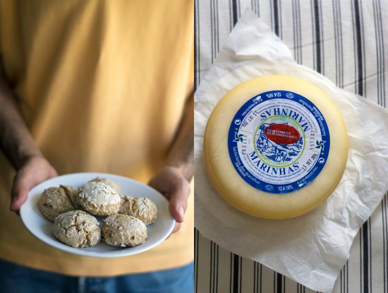 Scones de aveia e queijo