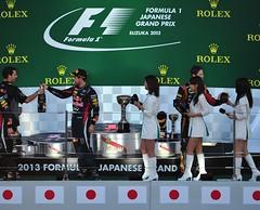 「2013 FIA F1 世界選手権シリーズ第 15 戦  日本グランプリレース」 表彰式
