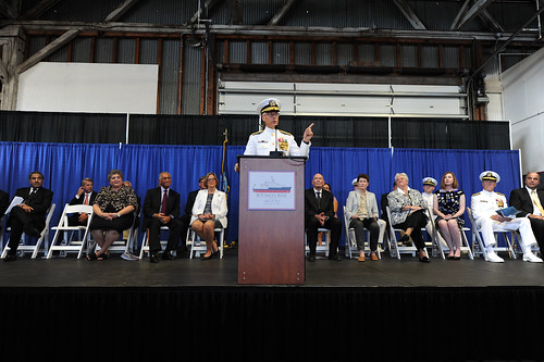 Rear Adm. Matthew Klunder, chief of naval research, delivers remarks. If I was going to lug my Nikon 14-24mm lens across the country, I was going to use it to capture at least one photograph.