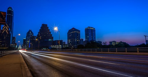 Austin's South Congress Street Bridge in Twilight by Geoff Livingston