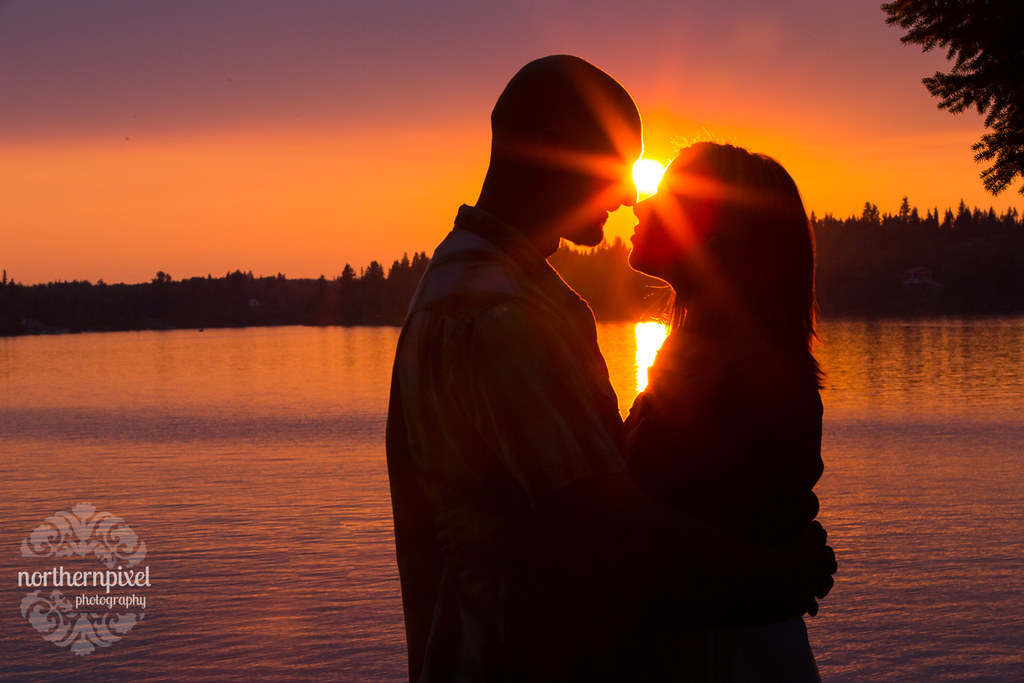 Sunset Engagement at Ness Lake