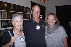 Bill Boyd and Gillian Amery with her longtime friend Judy.