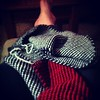 Reversible stripes scarf