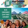 I'm excited to be speaking at the @BlogElevated Conference this September in Galveston! This is a conference to help you take your blog to the next level. Which is what I'm all about when I speak at events. If you are a blogger, don't miss this great give