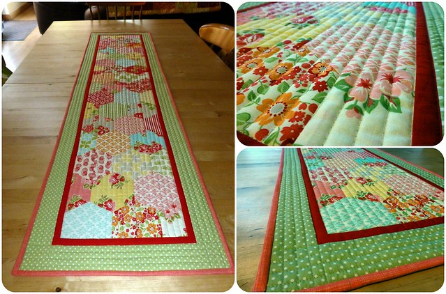 Half Hexie Table Runner (Marmalade)