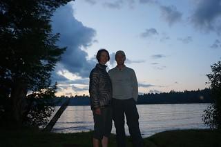 Us at Fish Creek Pond