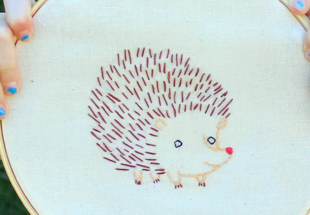 Embroidered Hedgehog