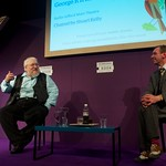 George R R Martin talks to Stewart Kelly at the Edinburgh International Book Festival |