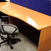 1600mm beech wave desk