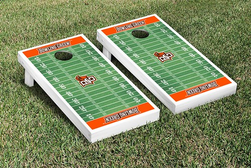 Bowling Green Falcons Cornhole Game Set Football Field