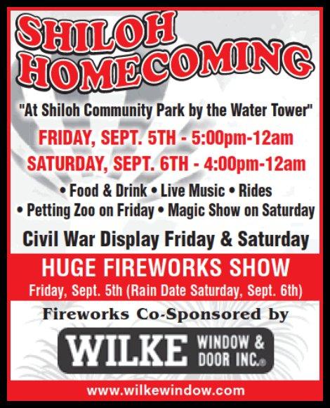 Shiloh Homecoming 9-5, 9-6-14