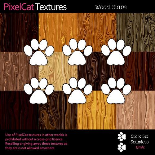 PixelCat Textures - Wood Slabs