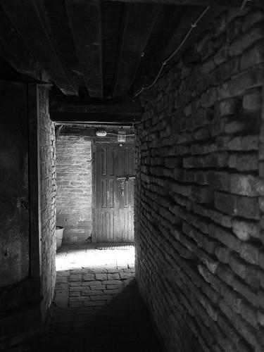 Shadows in alleyways
