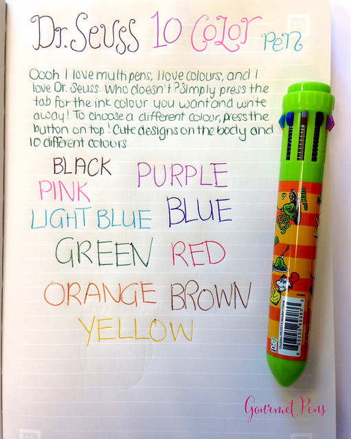 Review: Dr. Seuss 10 Colour Multipen @RaymondGeddes