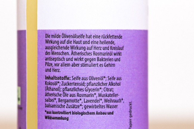 Fairy Box, Fairy Box September 2014, tierversuchsfreie Beautybox, Box ohne Tierversuche, NATUREHOME Rosmarin Handseife