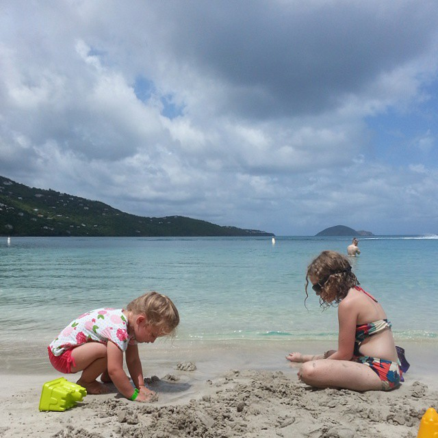 One year ago at this same beach Addie befriended a toddler because she missed her sister. Today they get to play together. :)