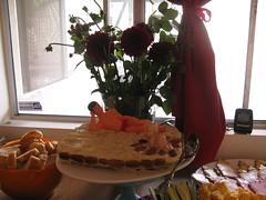 flower, centrepiece, food,