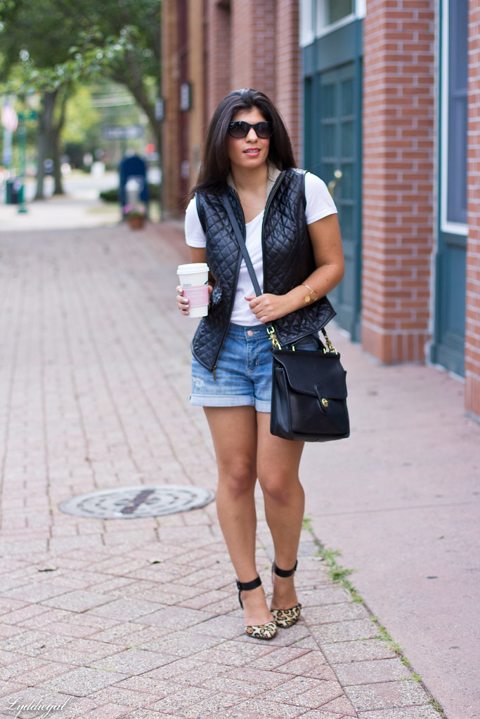 Denim shorts, leather vest, hexagon jewelry-1.jpg
