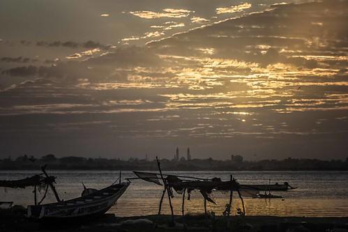 ocean morning sea sky saint sunrise boats louis landscapes mare alba atmosphere barche cielo aurora senegal antonio paesaggi atmosfera oceano mattino mat56 romei