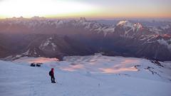 Podejscie na szczyt Elbrus, gdzieś na wys. 5100m.