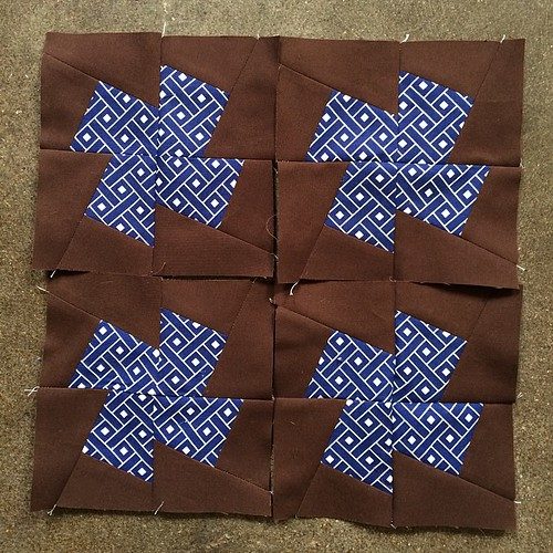 July Minneapolis Modern Quilt Guild Mystery Quilt Along blocks complete. #mplsmqg #mplsmqgmysteryquiltalong
