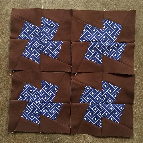 July Minneapolis Modern Quilt Guild Mystery Quilt Along blocks complete. #mplsmqg #mplsmqgmysteryquiltalong