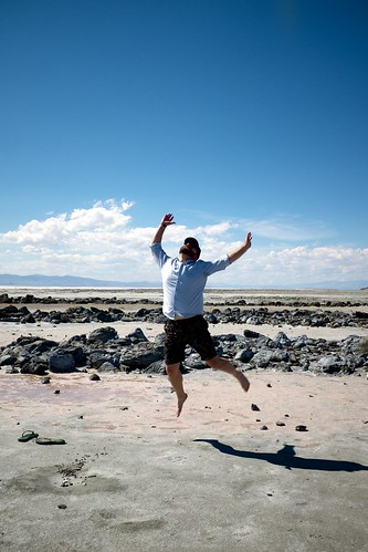 Spiral Jetty with me jumping