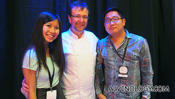 Alvina and Alvin with chef David Thompson