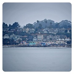 Cloudy skies before the start of the #capitola begonia festival #santacruz