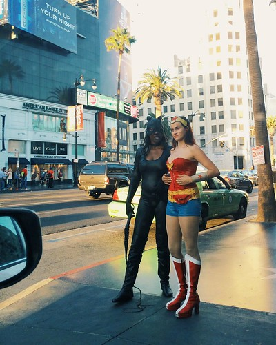 Cat Woman and Wonder Woman