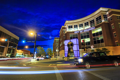 "City of Columbia downtown ""City Hall"" Missouri Columbia ""Columbia Missouri"" Notley ""Notley Hawkins"" 10thavenue ""University of Missouri"" http://www.notleyhawkins.com/ ""Missouri Photography"" ""Notley Hawkins Photography"" ""Boone Bounty"" BoCoMo ""Boone County Missouri"" summer 2014 August ""blue hour"" ""The Blue Hour"" architecture ""Long Exposure"" night nocturne evening"