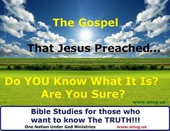ONUG The Gospel Jesus Preached Promo 1