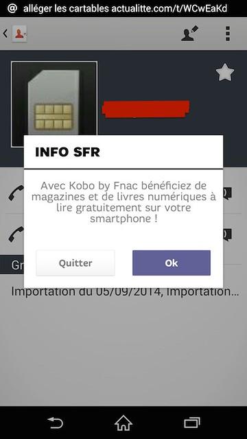 Kobo by Fnac publicité SFR