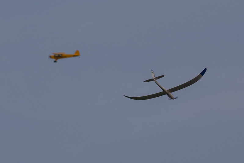 Arthur's Glider with Alan's Cub in the background.