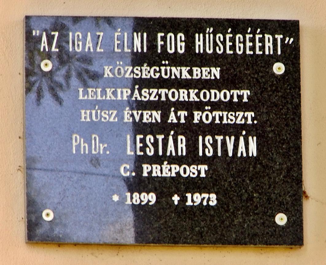Pamätná tabuľa I. Lestára