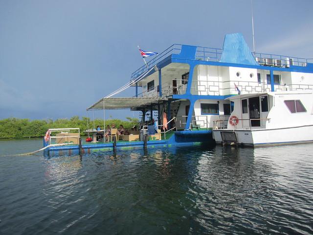 Tortuga floating hotel at Jardines De La Reina