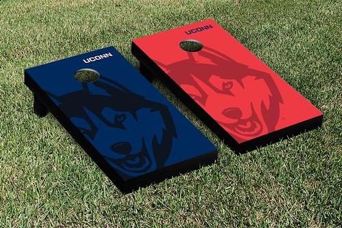 Connecticut UCONN Huskies Cornhole Game Set Watermark Version