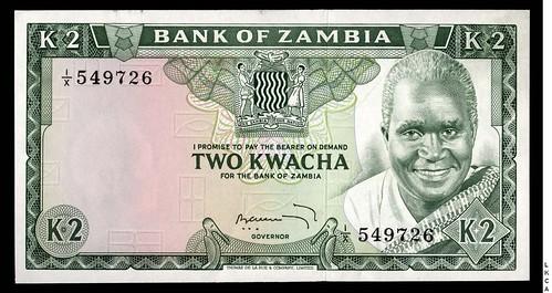 Zambia Two Kwacha replacement note