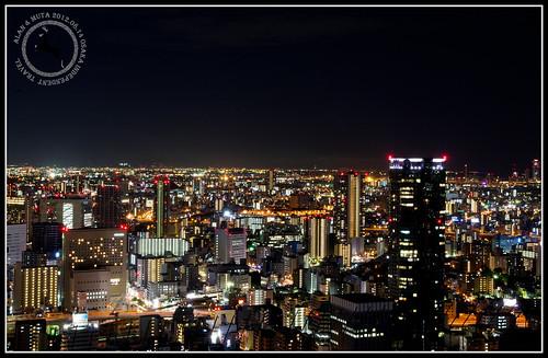 2012.08 OSAKA大阪自由行-空中庭園展望台-夜景