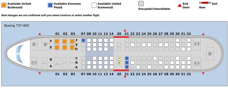 UA 738 With Only 32 Rows And 10 Seats In F
