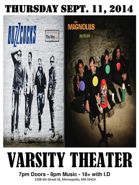 09/11/14 The Buzzcocks/ The Magnolias @ Varsity Theater, Minneapolis, MN