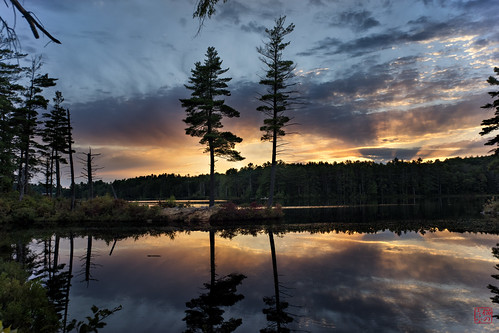 trees sunset reflection unitedstates walk massachusetts tully twotrees royalston explored tullylake fall2014 cal2015