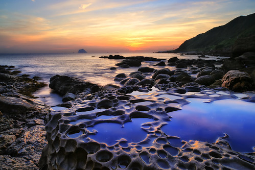 sea cloud rock sunrise canon landscape taiwan 基隆 台灣 風景 hy bai keelung 日出 攝影 外木山 大武崙 神桌 waimushan dawulun fave50 hybai