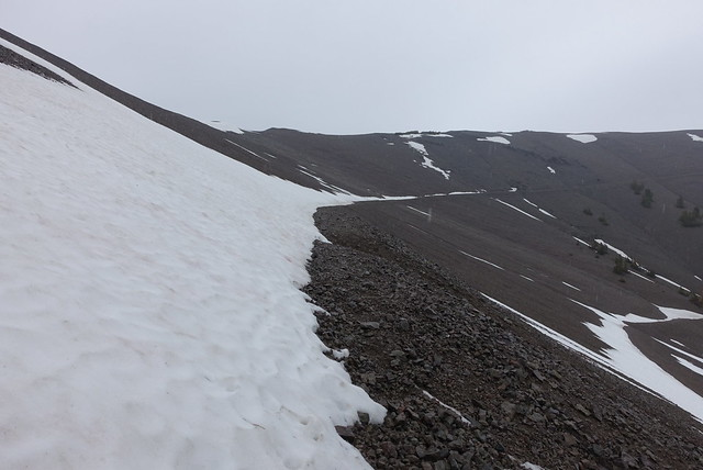 Almost-snow covered trail, m1007