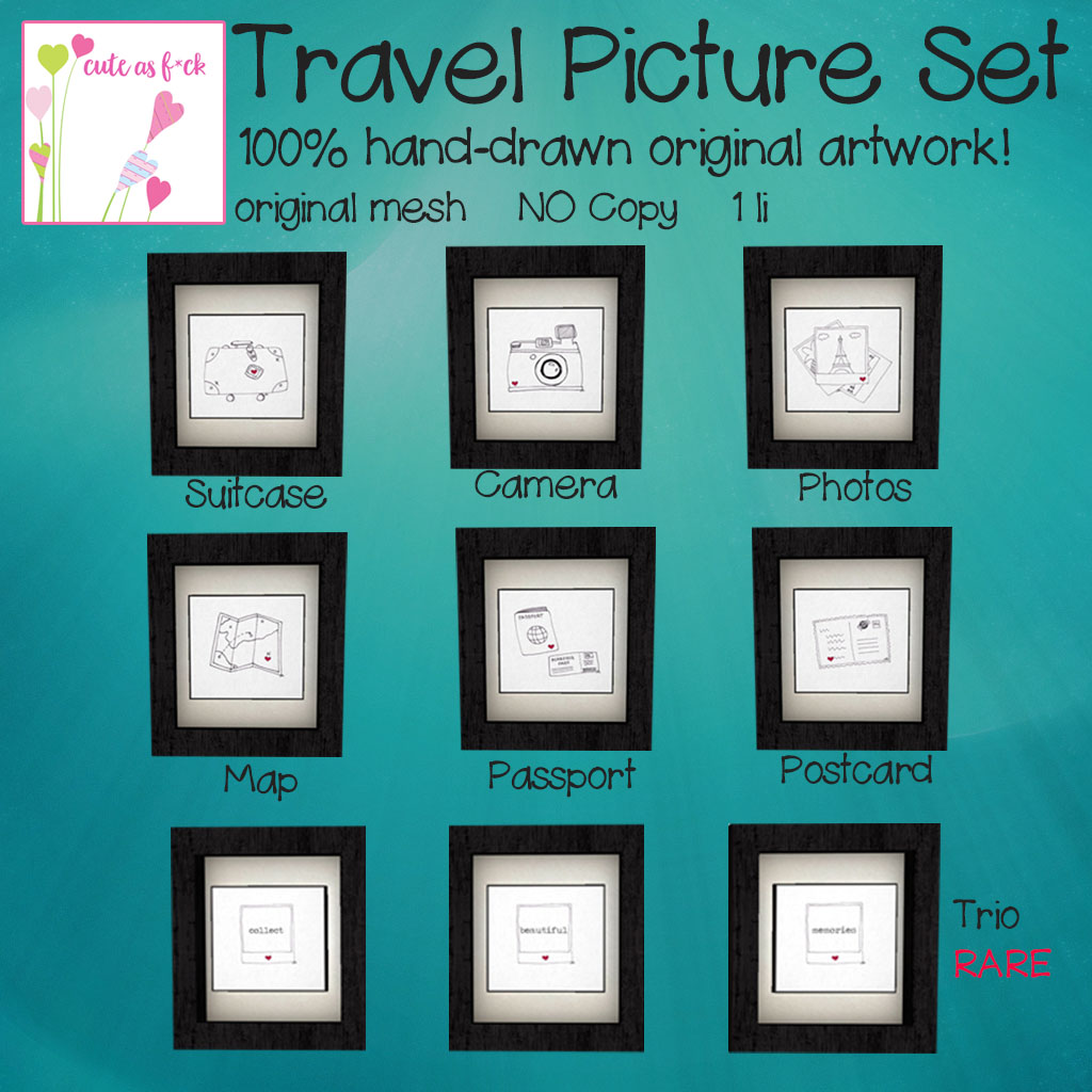 ::cute as f*ck:: Travel Picture Set Gacha Key