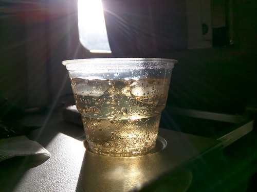 cellphone cup drink plane soda sunlight