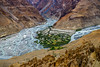 Spiti River seen from Dhankar in Himachal Pradesh