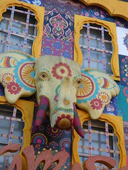 Artwork above shops in Camden Town