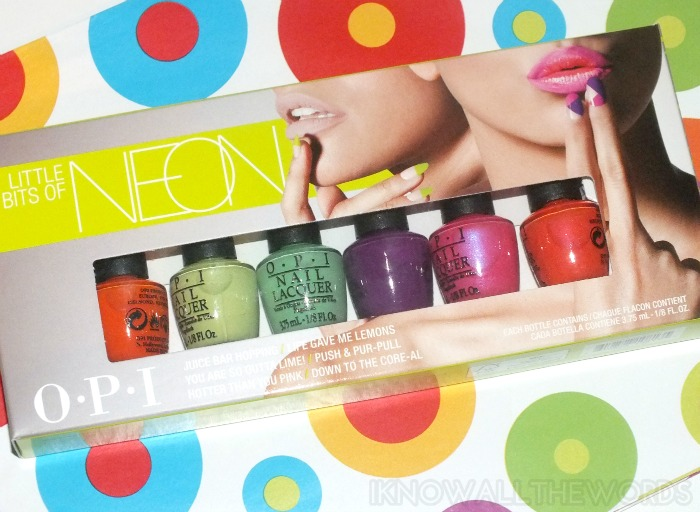 OPI Little Bits of Neon (2)