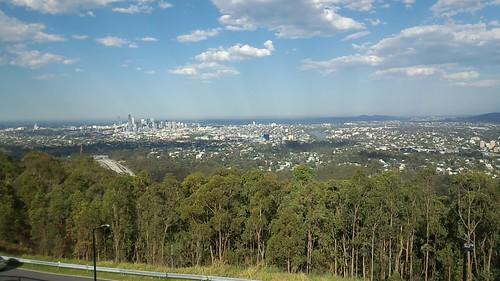 Mt. CoothaからのBrisbane city の眺め